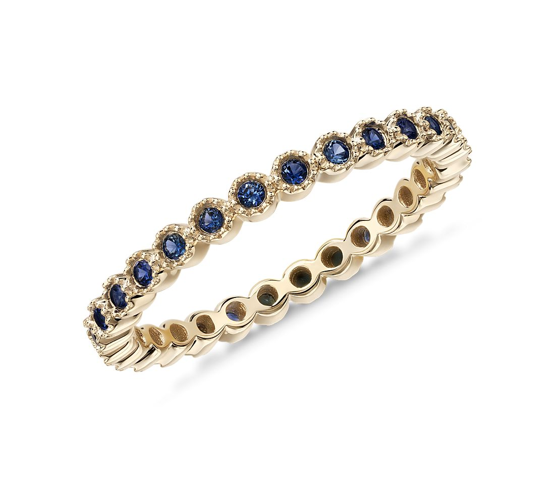 Sapphire Eternity Ring In 14k Yellow Gold 1 3mm Blue Nile