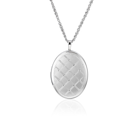 Blue Nile Oval Four-Picture Locket in Sterling Silver R85KD