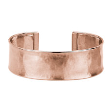 NEW Satin Cuff Bracelet in 14k Italian Rose Gold