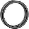 Satin Finish Wedding Ring in Black Tungsten Carbide (6mm)