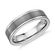 Satin Finish Wedding Ring in Gray Tungsten Carbide (6mm)