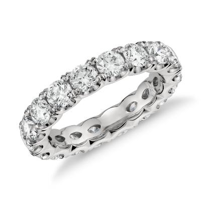 Blue Nile Studio Scalloped Prong Diamond Eternity Ring in Platinum