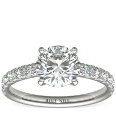 Scalloped Pavé Diamond Engagement Ring