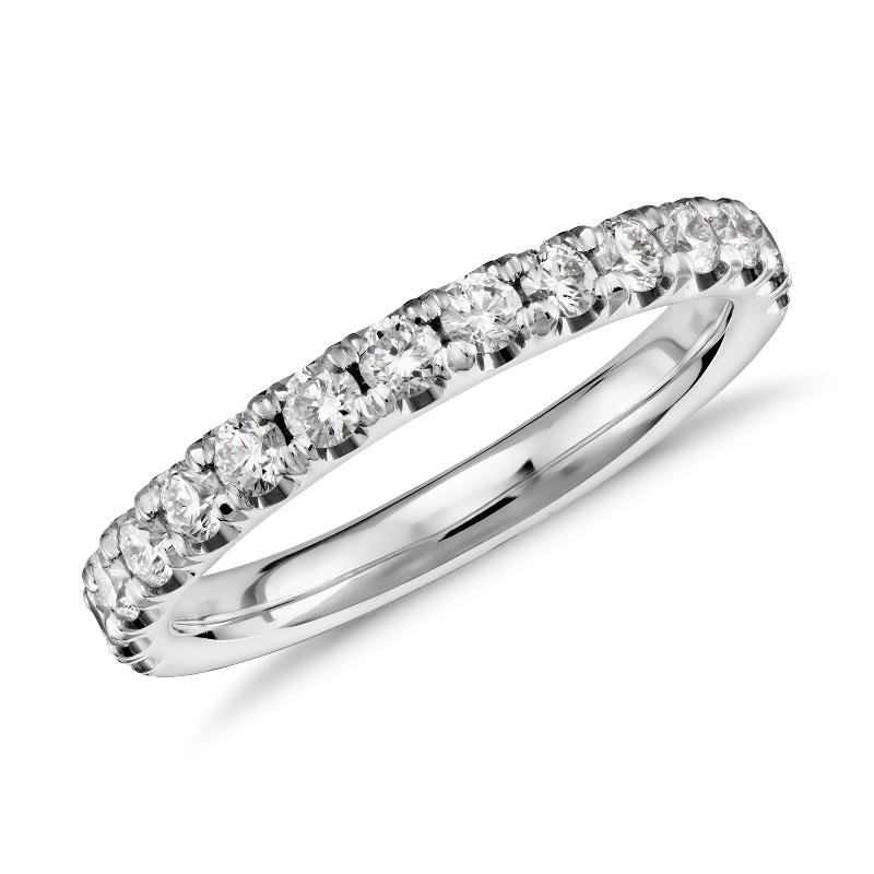Scalloped Pavé Diamond Ring in 18k White Gold (1/2 ct. tw.