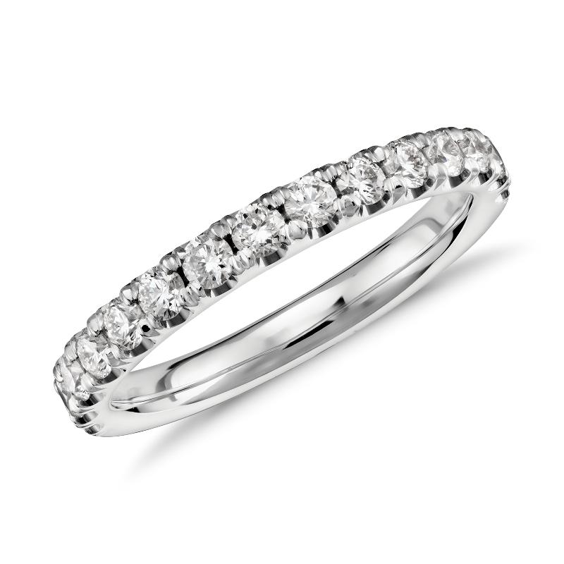 Scalloped Pavé Diamond Ring in Platinum (1/2 ct. tw.)