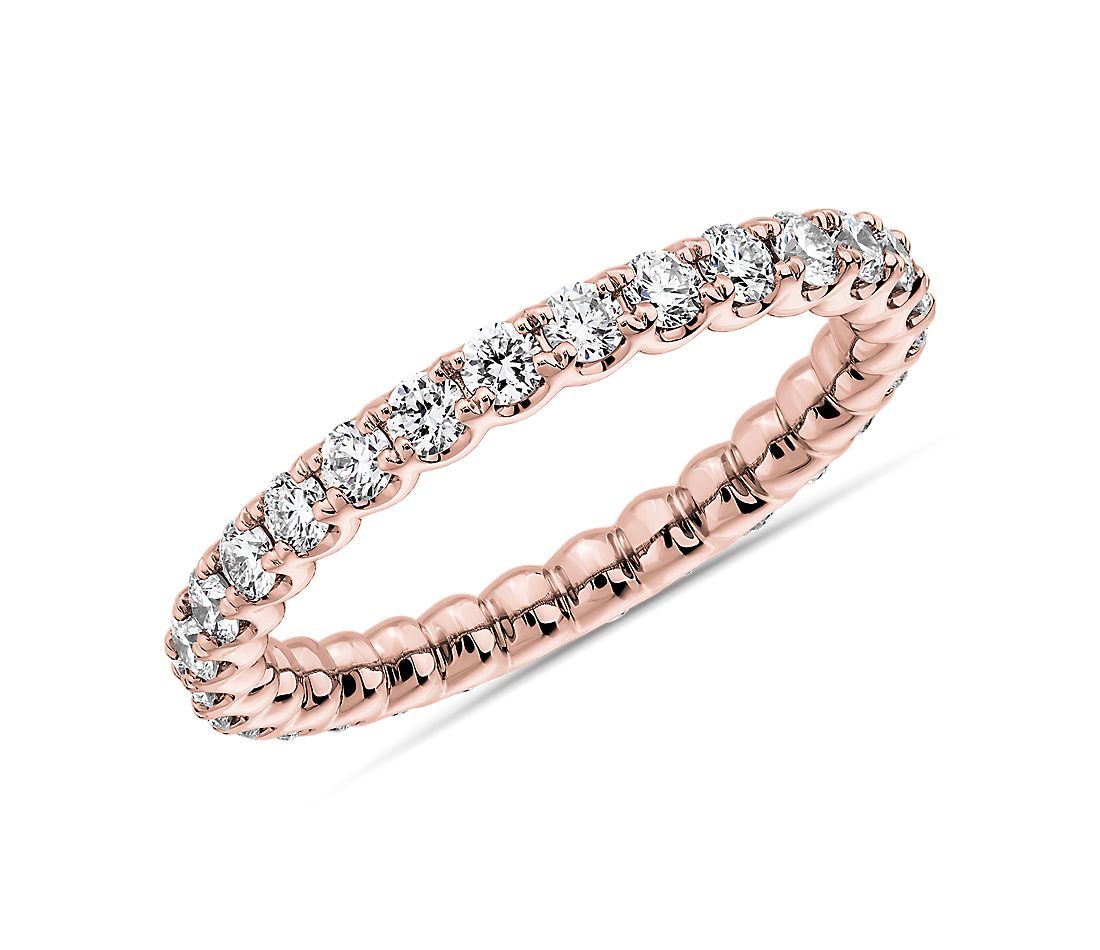 Selene Diamond Eternity Ring in 14k Rose Gold (1 ct. tw.)