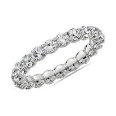 14k 白金 Selene 钻石永恒戒指(2 克拉总重量)