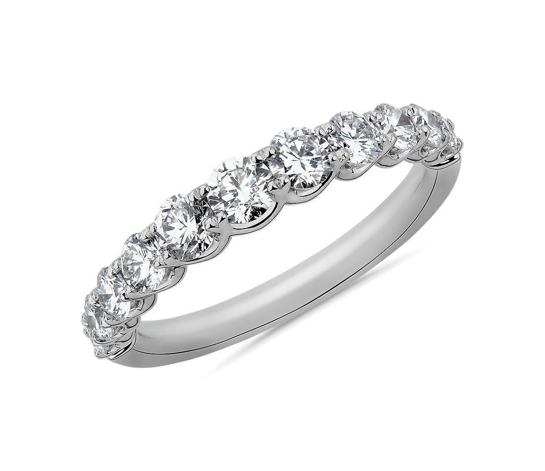 Selene Graduated Diamond Anniversary Ring in 14k White Gold (1 ct. tw.)