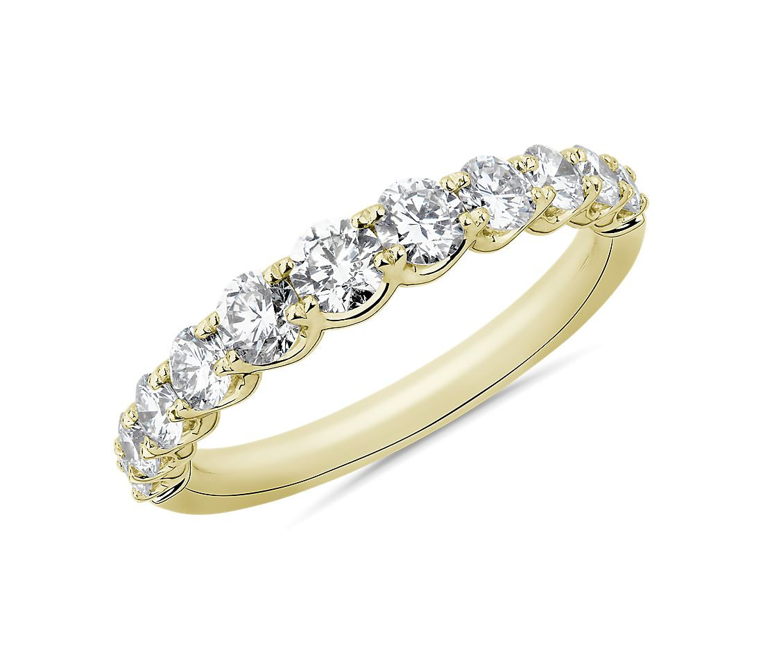 Selene Graduated Diamond Anniversary Ring in 14k Yellow Gold (1 ct. tw.)