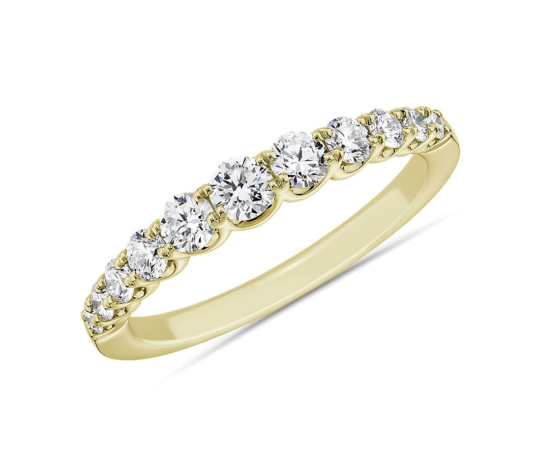 Selene Graduated Diamond Anniversary Ring in 14k Yellow Gold (5/8 ct. tw.)