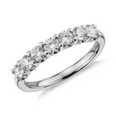 Luna Seven Stone Diamond Ring in Platinum