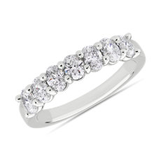 Seven Stone Oval Diamond Ring in Platinum (1 ct. tw.)