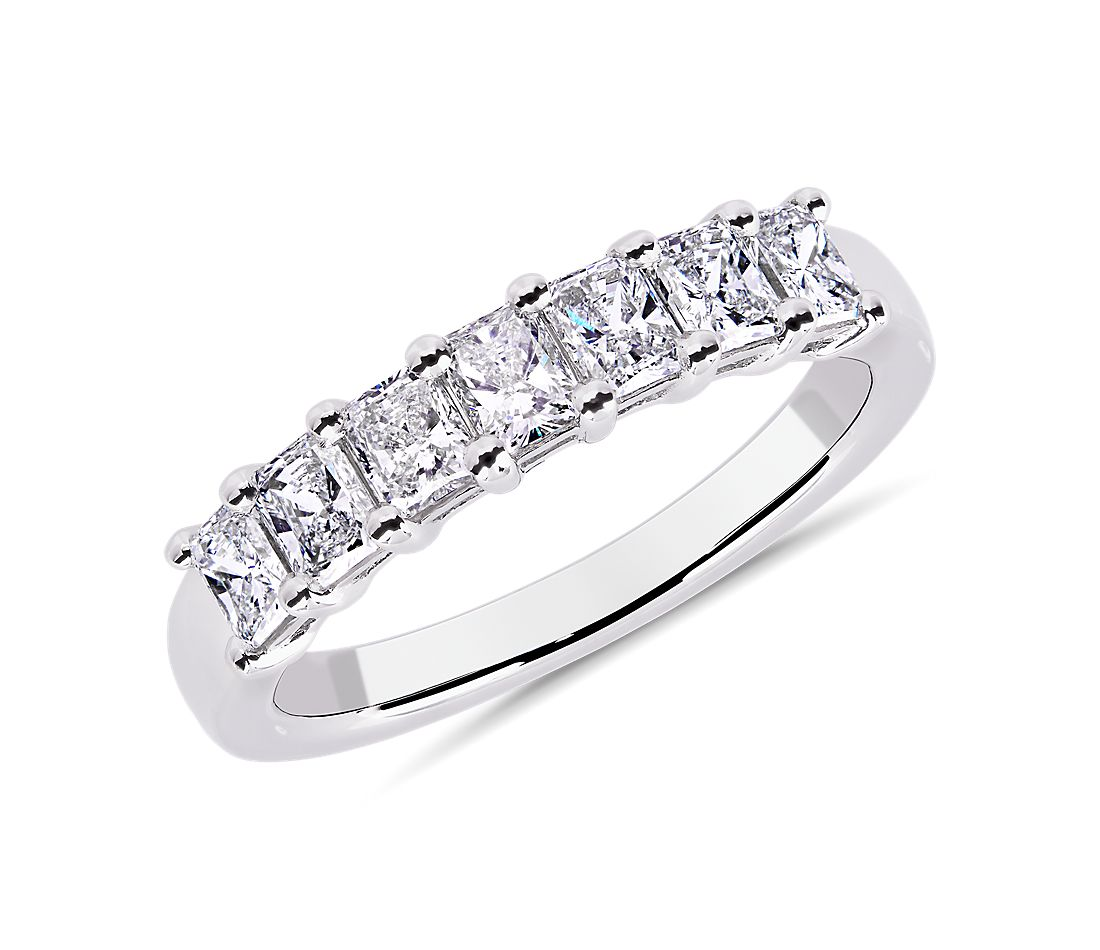 Seven Stone Radiant Diamond Ring in Platinum (1 ct. tw.)