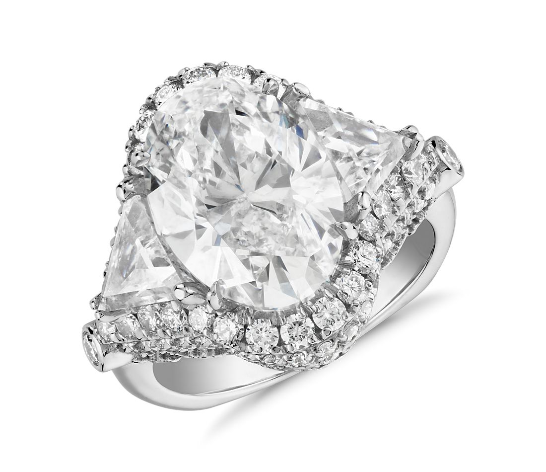 Bella Vaughan for Blue Nile Sienna Trillion Oval Diamond Engagement Ring in Platinum (7.33 ct. tw.)
