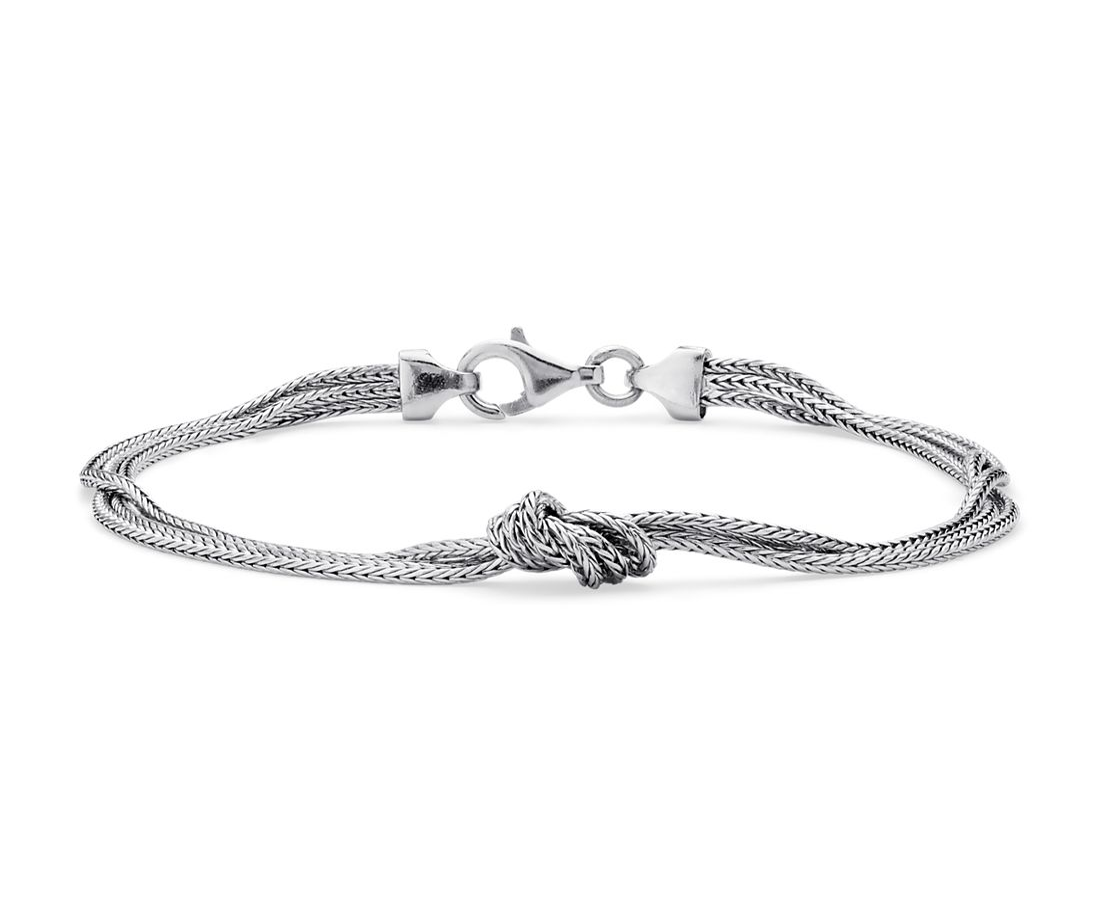 Silky Knot Bracelet in Sterling Silver