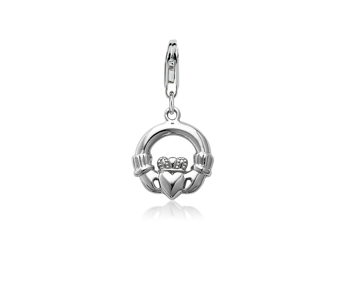Breloque Claddagh en argent sterling