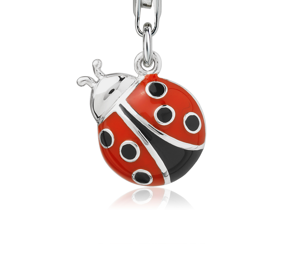 Ladybug Charm in Sterling Silver