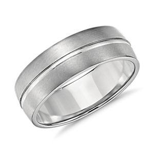 Alianza de un riel y diseño de ajuste cómodo en platino (7mm)