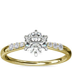 Six-Claw Petite Diamond Engagement Ring in 14k Yellow Gold (1/10 ct. tw.)