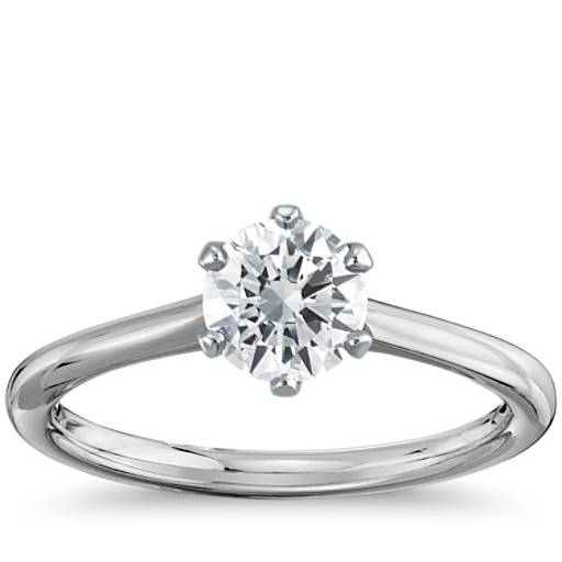 Engagement Ring Selection Guide: Petite Nouveau Six-Prong Solitaire Engagement Ring In