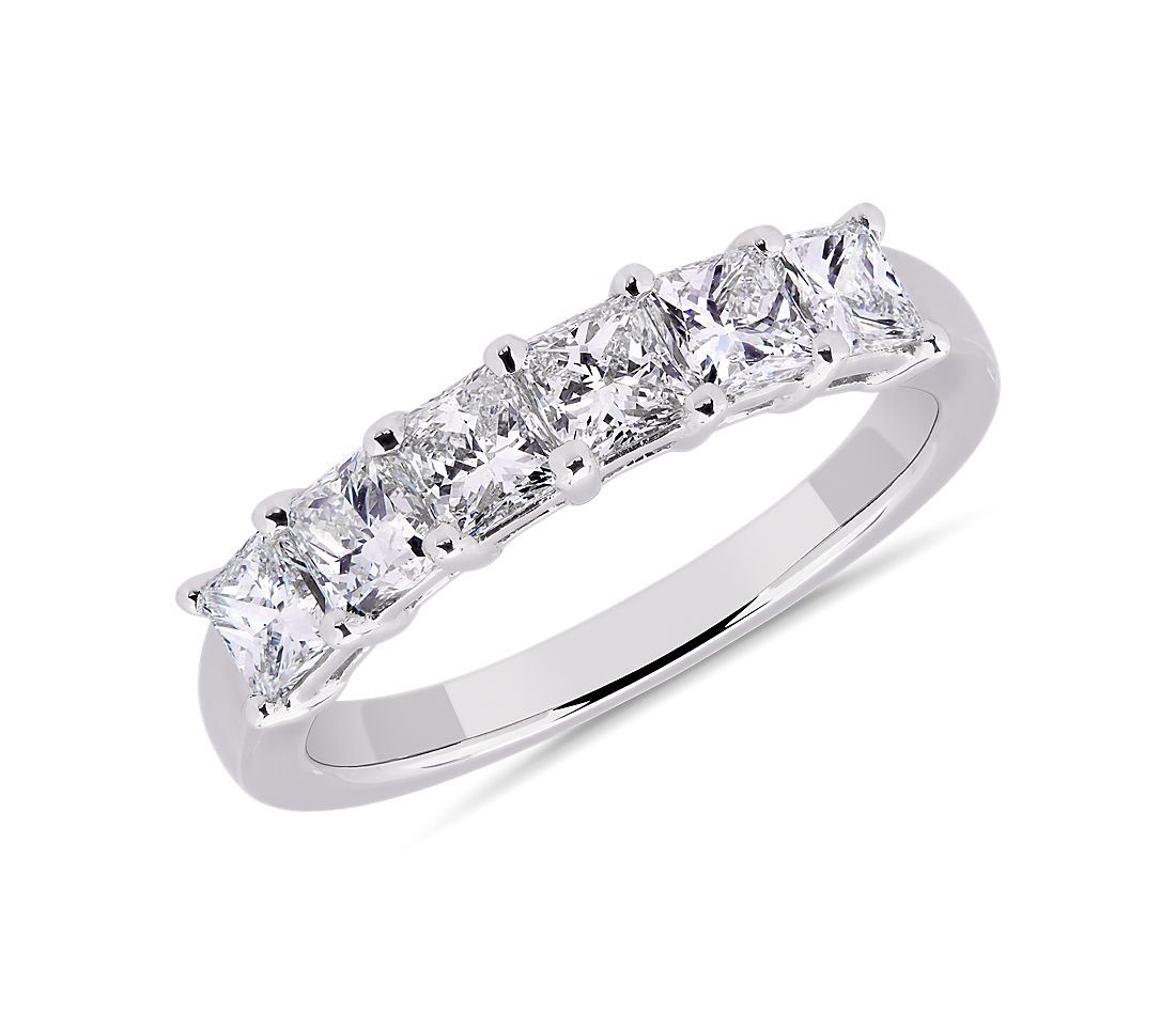 Six Stone Princess Diamond Ring in Platinum (1 1/4 ct. tw.)