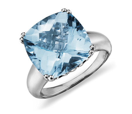 Sky Blue Topaz Cocktail Ring in Sterling Silver (13mm)