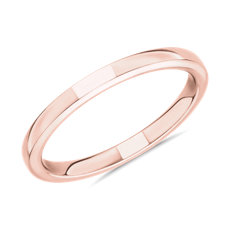 Alliance confort horizon en or rose 14 carats (2 mm)