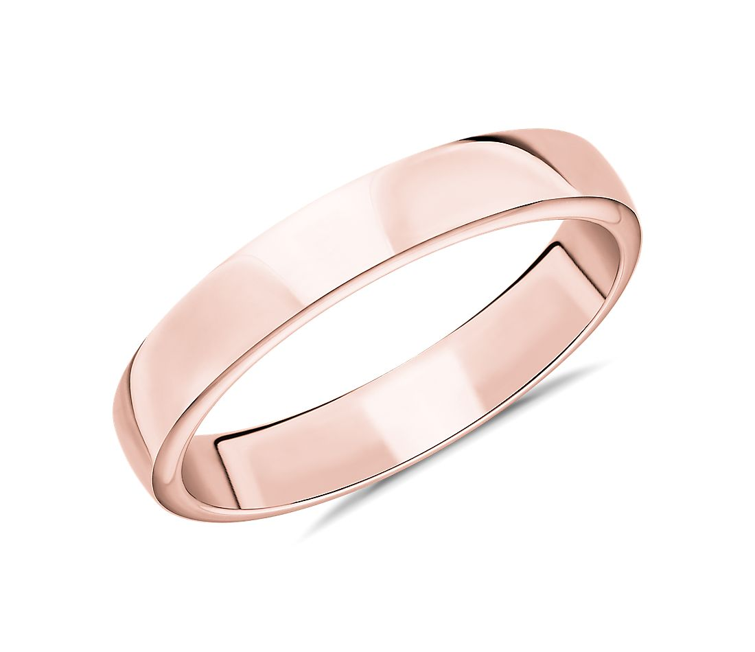 Skyline Comfort Fit Wedding Ring in 14k Rose Gold (4mm)