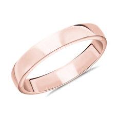 Skyline Comfort Fit Wedding Ring in 14k Rose Gold (4mm)