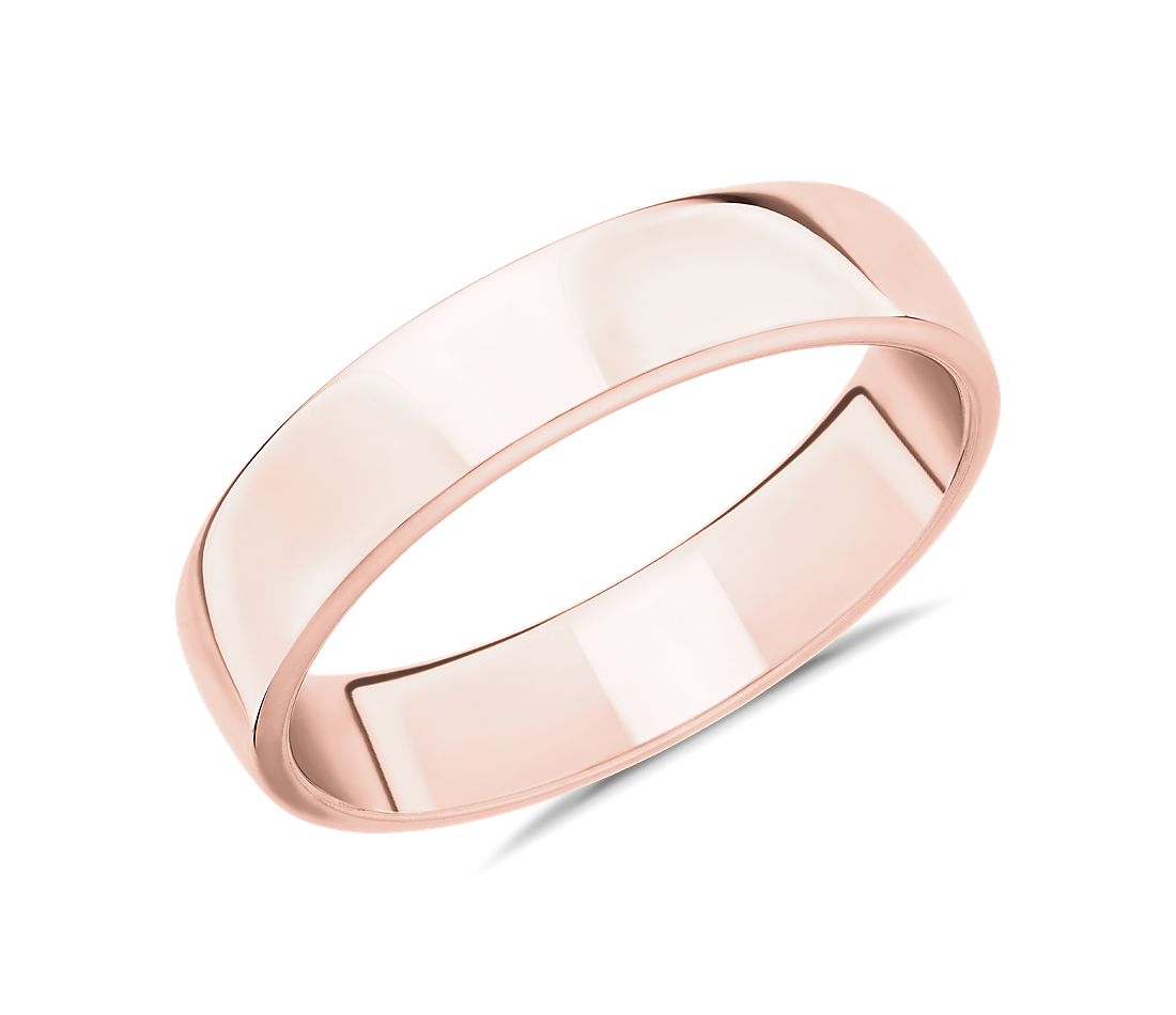 Skyline Comfort Fit Wedding Ring in 14k Rose Gold (5mm)