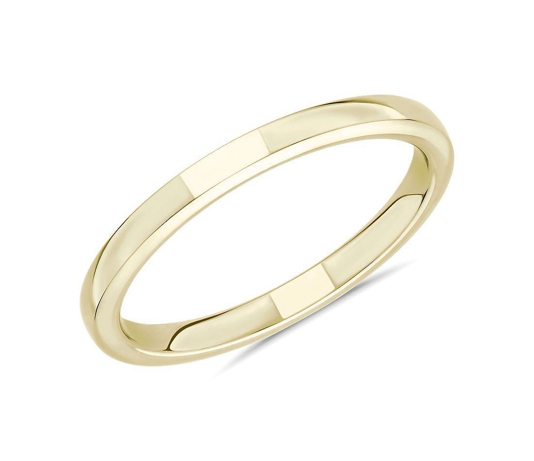 Skyline Comfort Fit Wedding Ring in 14k Yellow Gold (2mm)