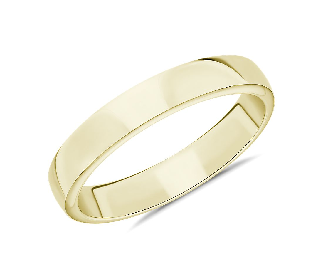 Skyline Comfort Fit Wedding Ring in 14k Yellow Gold (4mm)