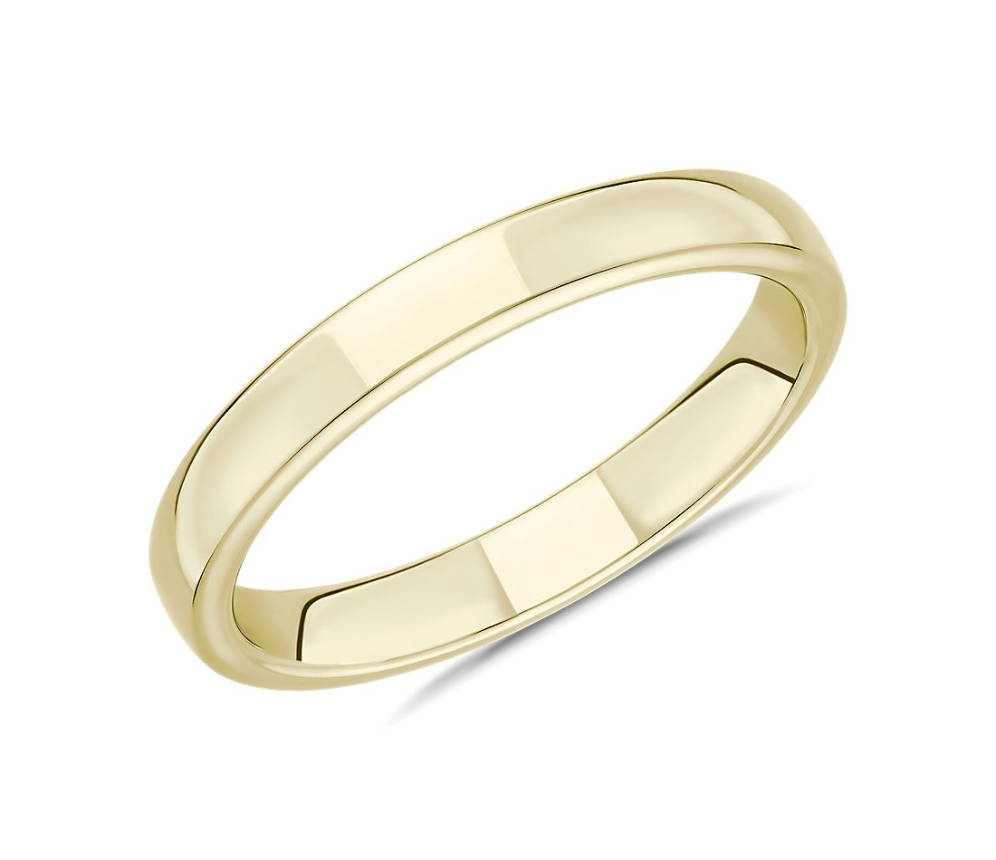 Skyline Comfort Fit Wedding Ring in 18k Yellow Gold (3mm)