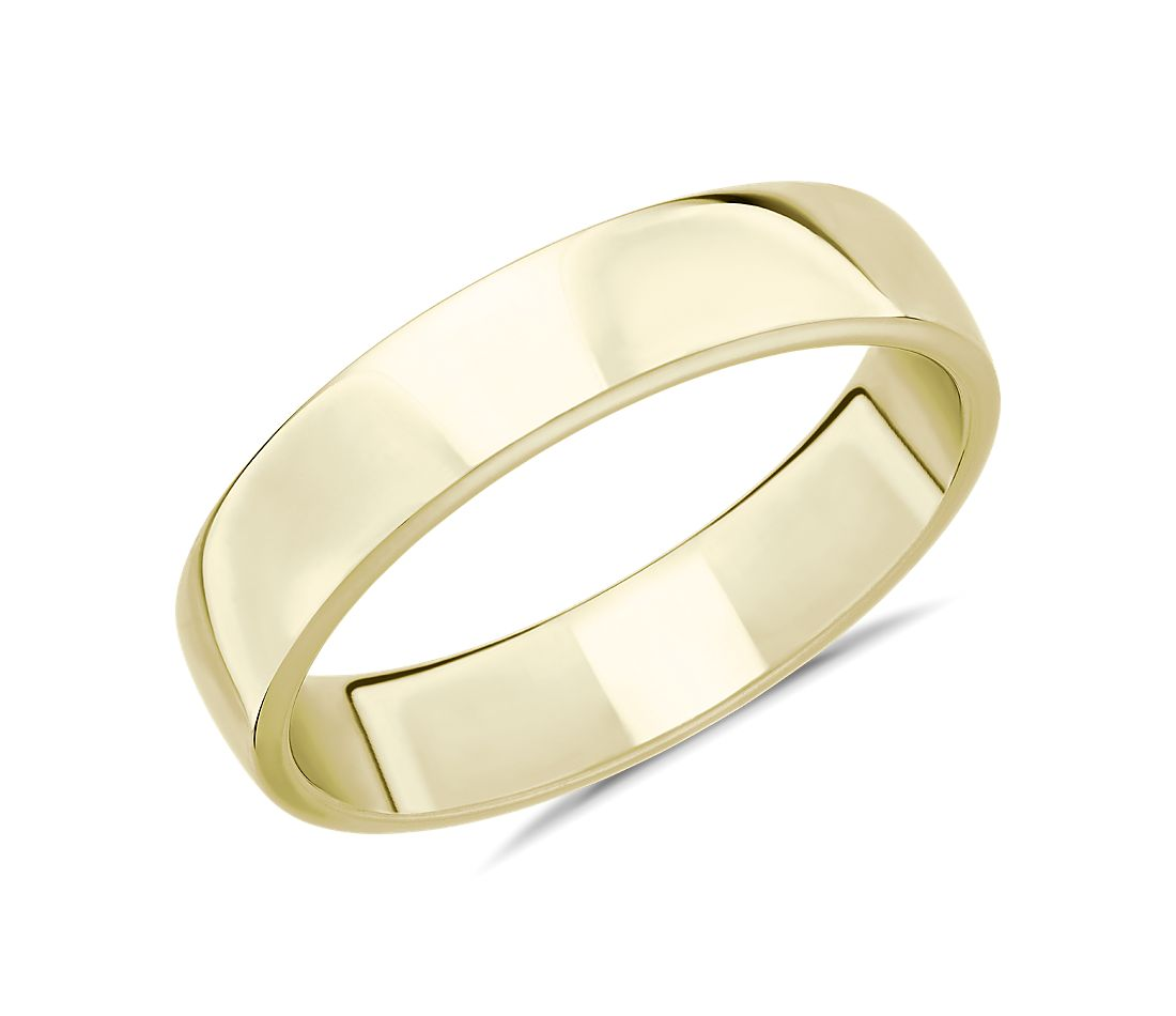 Skyline Comfort Fit Wedding Ring in 18k Yellow Gold (5mm)