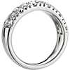 Sleek Diamond Dome Wedding Ring in 18k White Gold- H/VS2 (1 1/2 ct. tw.)