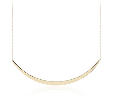 Blue Nile Smile Bar Necklace in Sterling Silver AnWKuppKDW
