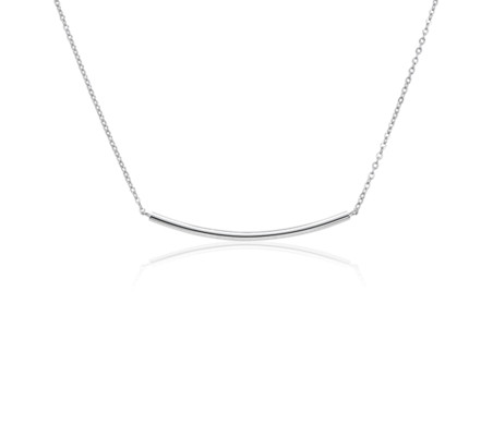 Blue Nile Smile Bar Necklace in Sterling Silver zHMFz