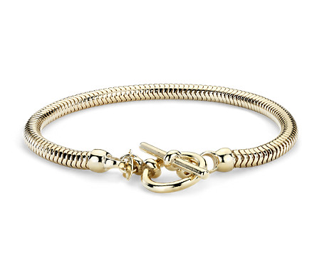 Blue Nile Adjustable Double Link Bracelet in Sterling Silver with Yellow Gold Vermeil URIDqfU3