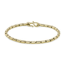 NEW Solid 24k Yellow Gold Handmade Baht Chain Bracelet (3.2mm)