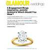 Classic Four Claw Engagement Ring in 18k Yellow Gold featured in Glamour.com