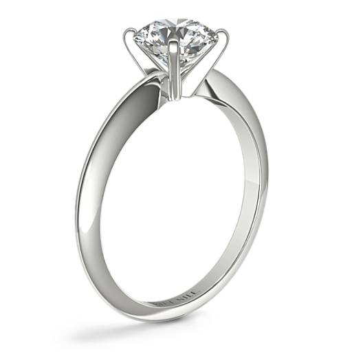 Classic Four-Claw Solitaire Engagement Ring