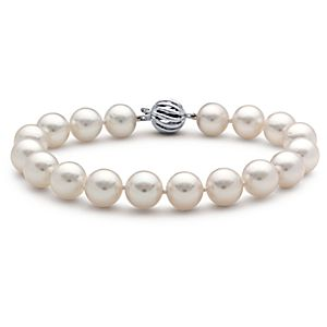 South Sea Cultured Pearl Strand Bracelet with 18k White Gold (9.0-9.5mm)
