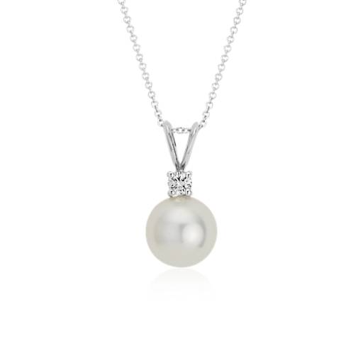 South sea cultured pearl and diamond pendant in 18k white gold 10 south sea cultured pearl and diamond pendant in 18k white gold 10 105mm blue nile aloadofball Gallery