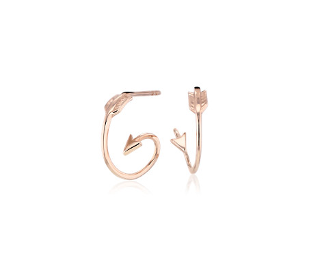 Blue Nile Spiral Arrow Earrings in 14k Rose Gold 8z2AmO
