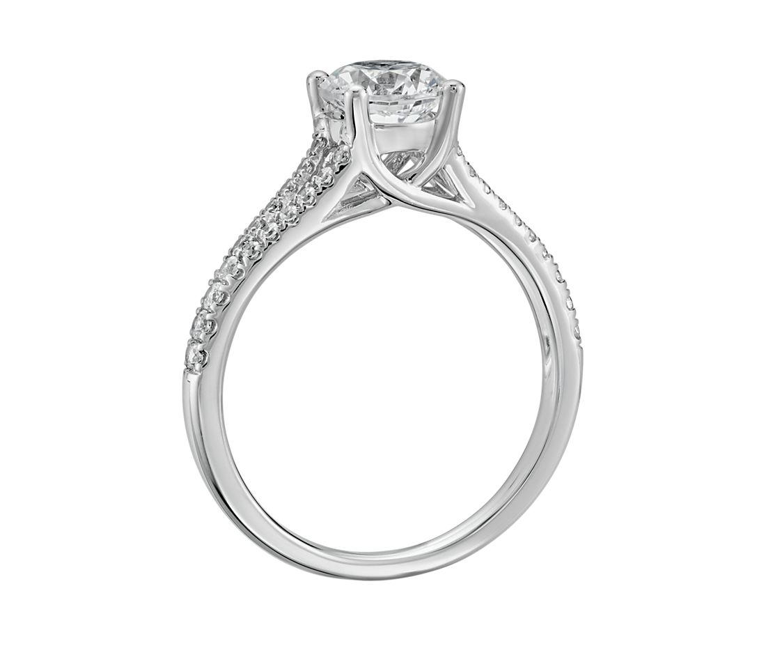 bf1d0ff911ad3 Split Shank Trellis Diamond Engagement Ring in 14k White Gold (1 3 ct. tw.)