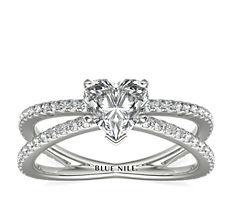 Blue Nile Studio Empress Diamond Engagement Ring in Platinum (1/3 ct. tw.)