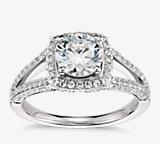 Monique Lhuillier 分叉戒环光环钻石订婚戒指