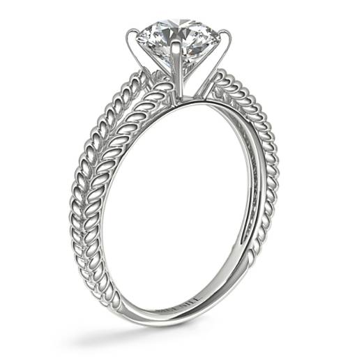 Split Shank Twisted Solitaire Engagement Ring