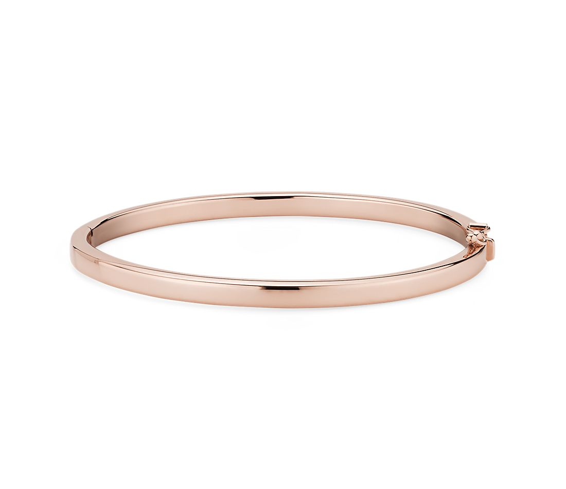 Squared Bangle in 14K Rose Gold 4mm