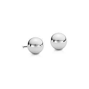 Boucles d'oreilles perles en argent sterling (8mm)